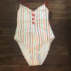(NW) Target one piece lace up back swim suit